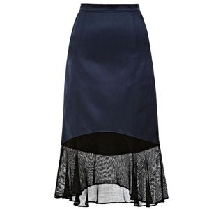 Tibi Fog Ruffle Skirt